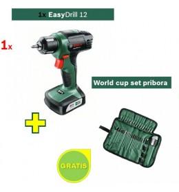 Aku bušilica Bosch EasyDrill 12 + World cup set pribora GRATIS