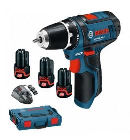Aku bušilica Bosch Professional GSR 12V-15 sa 3 baterije