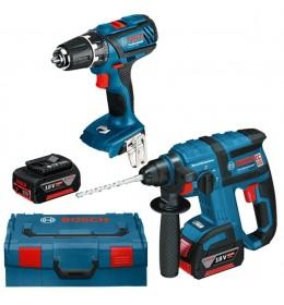 Aku hamer bušilica Bosch Professional GBH 18 V-EC + Aku bušilica GSR 18 V-LI + 2x4,0 Ah u L-BOXX veličina 3