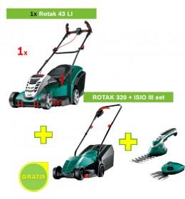 Aku kosilica Bosch Rotak 43 Li 06008A4500 + ROTAK 320 + ISIO III set