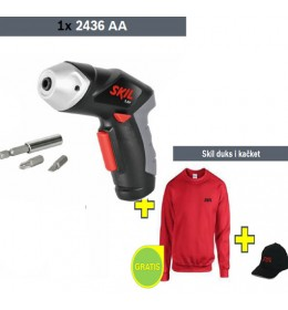 Akumulatorski odvrtač Skil 2436AA + Skil duks i kačket