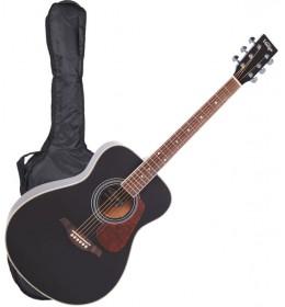 Akustična gitara sa torbom, stalkom i štimerom Vintage V300BKOFT