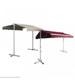 Aluminijumska profesionalna mobilna tenda 350x300 cm bordo