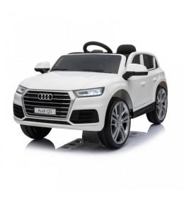 Dečiji automobil na akumulator Audi Q5 2019 sa kožnim sedištem i mekim gumama Beli