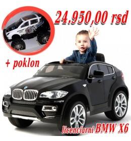Automobil na akumulator model 229 BMW X6 crni + poklon