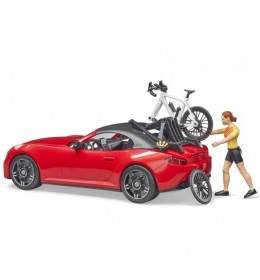 Auto Roadster sa biciklistom Bruder 034856