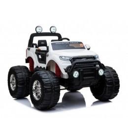 Auto Ford Ranger MONSTER Truck 4x4 Dvosed sa kožnim sedištima i mekim gumama - Beli