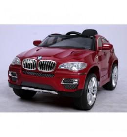 Auto na akumulator BMW X6 crveni Licencirani sa kožnim sedištima