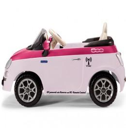 Auto na akumulator Fiat 500 6v Fucsia sa daljinskim upravljačem