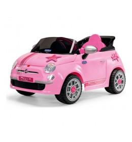Auto na akumulator Fiat 500 6v Star Pink ED1172