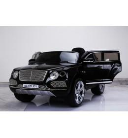 Auto na akumulator licencirani Bentley 2018 crni sa kožnim sedištem