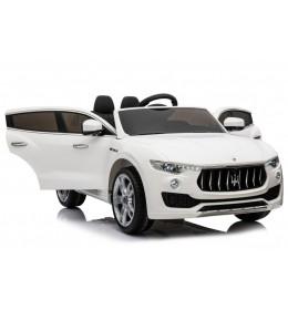 Auto na akumulator Maserati Levante 2018 beli sa kožnim sedištem