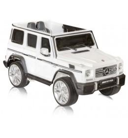 Auto na akumulator Mercedes AMG 65 Beli  licencirani kožno sedište