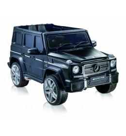 Auto na akumulator Mercedes AMG 65 Crni licencirani kožno sedište