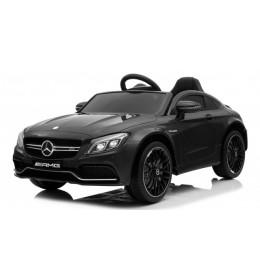 Auto na akumulator Mercedes AMG GT-R model 265 Licencirani sa kožnim sedištem i mekim gumama Crni
