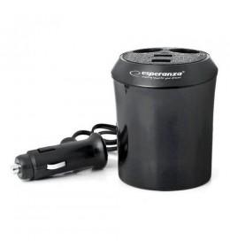 Auto punjač adapter Esperanza EZ125, 2 izlaza + 2 USB