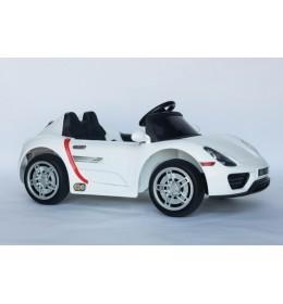 Auto za decu na akumulator Porsche  sa mekim gumama i kožnim sedištem - Beli