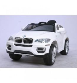 Automobil na akumulator BMW X6 beli Licencirani sa kožnim sedištima