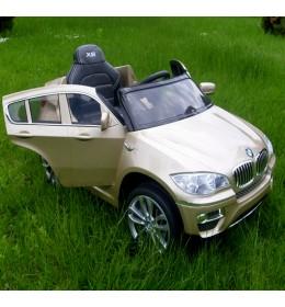 Automobil na akumulator BMW X6 zlatni