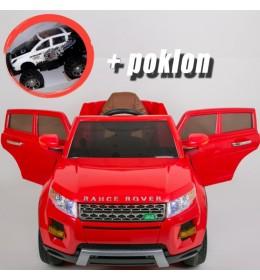 Automobil na akumulator Land Rover Crveni + POKLON
