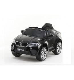 Automobil na akumulator model 229 BMW X6 crni sa kožnim sedištem i Eva gumama crni