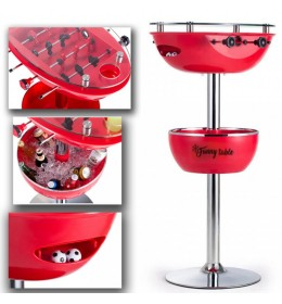 Barski sto sa stonim fudbalom Funny table crveni