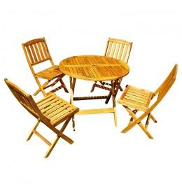 Baštenska garnitura Bok sa 4 stolice