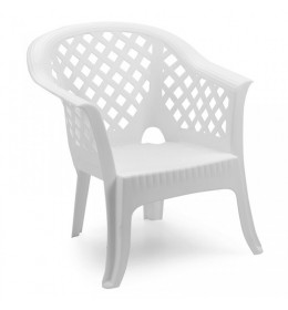 Baštenska fotelja Lario bela
