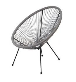 Baštenska fotelja Mistick siva