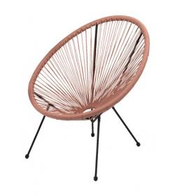 Baštenska fotelja Mistick ružičasta