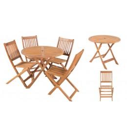 Baštenska garnitura Eden sto + 4 stolice