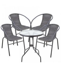 Baštenska garnitura Bistro sa 4 stolice