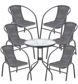 Baštenska garnitura Bistro sa 6 stolice