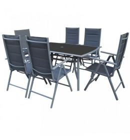 Baštenska garnitura Leon sa 6 podesivih stolica i stolom