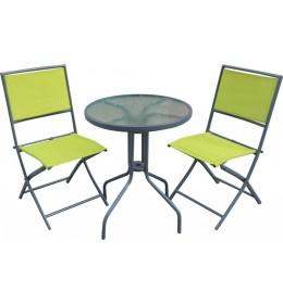 Baštenska garnitura Lipari sto i dve rasklopive stolice