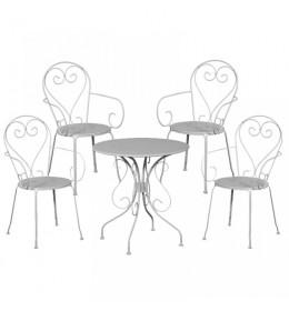 Baštenska garnitura Moka 4 stolice i 1 sto