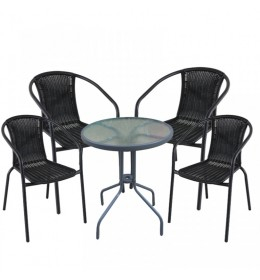 Baštenska garnitura Napoli 4 stolice i sto