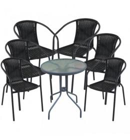 Baštenska garnitura Napoli 6 stolice i sto