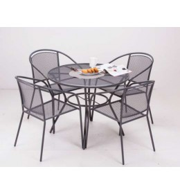 Baštenska Garnitura Od Metala Arko - 4 Stolice i Sto