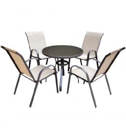 Baštenska garnitura sto + 4 stolice Piemont