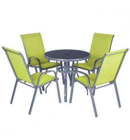Baštenska garnitura Yellow 4 stolice