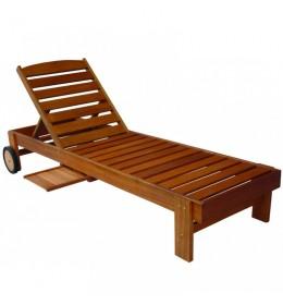 Bastenska ležaljka drvena sa točkićima - Salvador