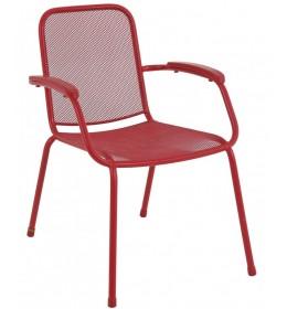 Baštenska metalna stolica Lopo crvena