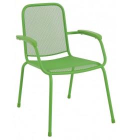 Baštenska metalna stolica Lopo zelena