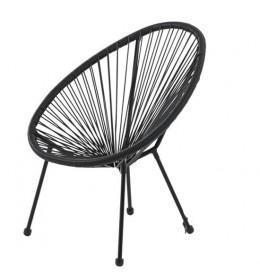 Baštenska stolica Lounge crna
