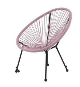 Baštenska stolica Lounge ružičasta