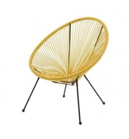 Baštenska stolica Lounge žuta