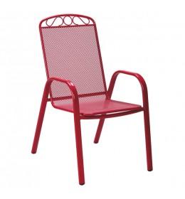 Baštenska stolica Melfi crvena
