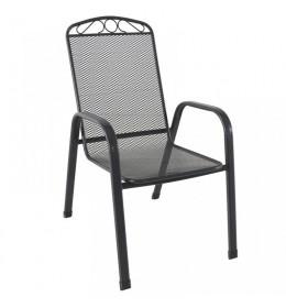 Baštenska stolica Melfi siva