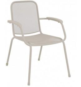 Baštenska stolica metalna Lopo svetlo siva